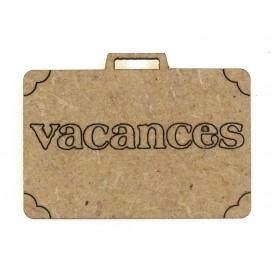 sujet en bois valise vacances