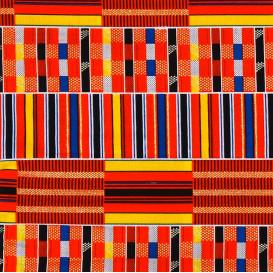 tissu africain wax brillant formes multicolore largeur 113cm x 50cm