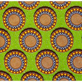 tissu africain wax brillant ronds largeur 113cm x 50cm
