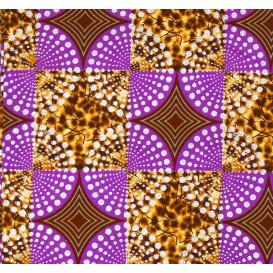 tissu africain wax brillant carré lilas largeur 113cm x 50cm