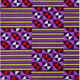 tissu africain wax brillant formes violet/lilas largeur 113cm x 50cm