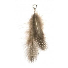 plume déco avec oeillet 9cm