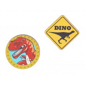 2 écussons dinosaure 5cm thermocollant