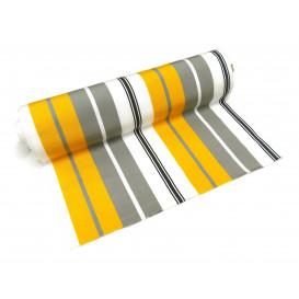 tissu toile transat jaune/gris largeur 44cm x 50cm