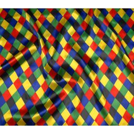 coupon 0,46mx1,43m tissu satin carnaval arlequin
