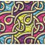 tissu africain wax brillant maille multicolore largeur 113cm x 50cm