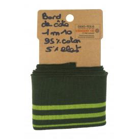 bord côte fantaisie rayure vert