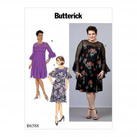 patron robes ajustées Butterick B6588
