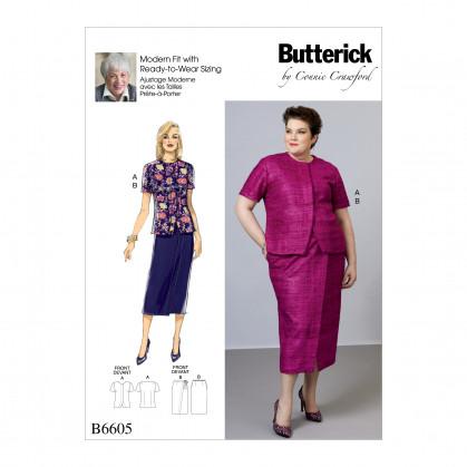 patron chemisier et jupe Butterick B6605