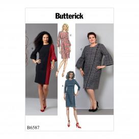 patron robes semi-ajustées Butterick B6587