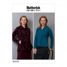 patron vestes ajustées Butterick B6596
