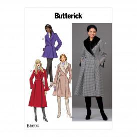 patron vestes et manteaux ajustés Butterick B6604