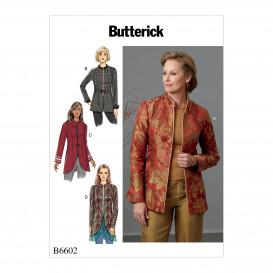 patron vestes semi-ajustées Butterick B6602