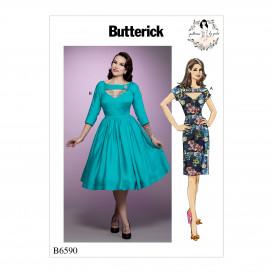 patron robes ajustées Butterick B6590