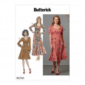 patron robes moulantes Butterick B6586