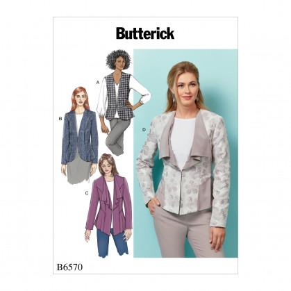 patron gilet et veste ajustés Butterick B6570
