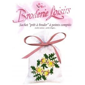 Sachet senteur à broder fleurs 3