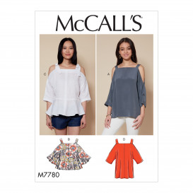 patron hauts amples McCall's M7780