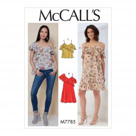 patron hauts et robes McCall's M7785