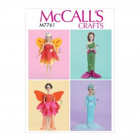 patron déguisements pour poupée 29,5cm McCall's M7761