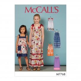 patron enfant robes McCall's M7768