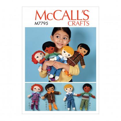 patron poupée, vêtement et chaussures McCall's M7795