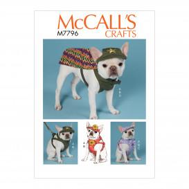 patron chapeaux, harnais et cape pour chien McCall's M7796