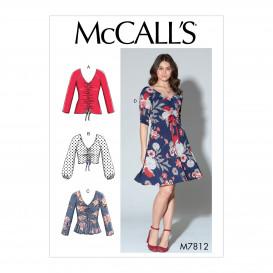 patron hauts et robe McCall's M7812