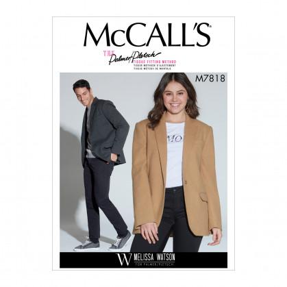 patron veste unisexe doublée McCall's M7818