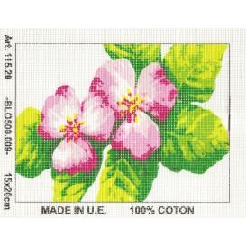 Kit canevas fleurs n°2 15x20 cm
