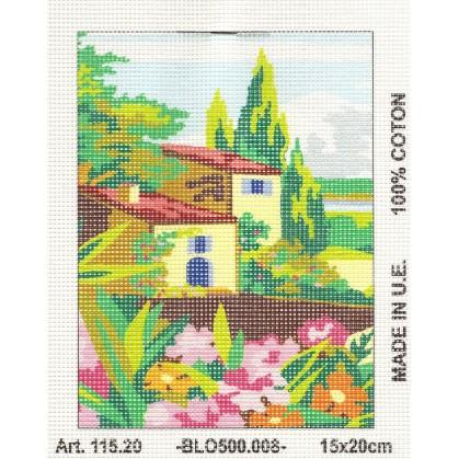 Kit canevas villa 15x20 cm