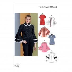 patron chemises amples Vogue V9331