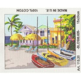 Kit canevas vacance 15x20 cm