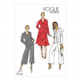 patron veste, jupe, pantalon Vogue V9336