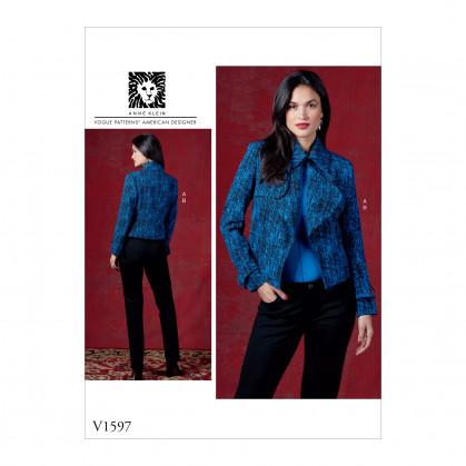 patron veste et pantalon Vogue V1597