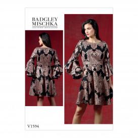 patron robe ajustée Vogue V1594