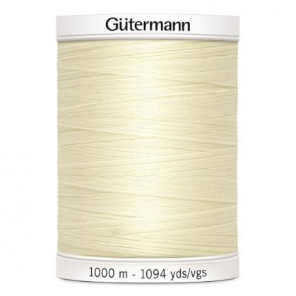 Fil à coudre Gütermann polyester 1000m écru