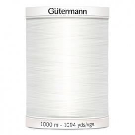 Fil à coudre Gütermann polyester 1000m blanc