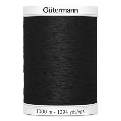 Fil à coudre Gütermann polyester 1000m noir