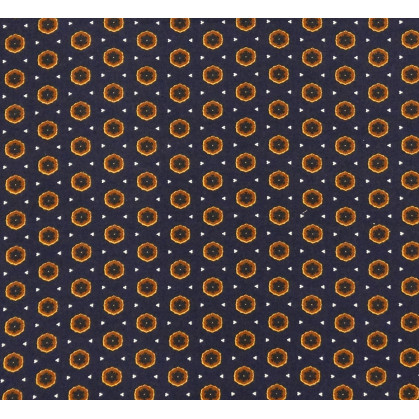 tissu viscose marine forme marron largeur 140cm x 50cm