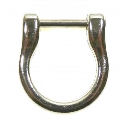 attache pour anse de sac à main argent 1,8cm x 1,4cm