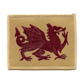 écusson drapeau dragon bordeaux droite thermocollant