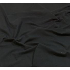 coupon 0,42mx1,60m de tissu jersey uni noir
