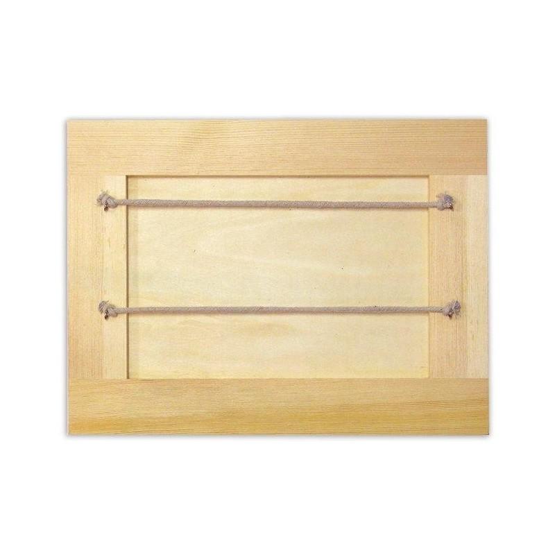 cadre p le m le pense b te en bois brut d corer. Black Bedroom Furniture Sets. Home Design Ideas