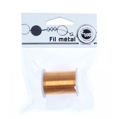 Fil métal orange rouge ou jaune