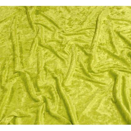 tissu panne de velours anis largeur 150cm x 50cm