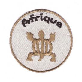écusson rond tortue afrique thermocollant