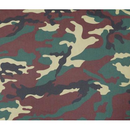 tissu camouflage vert poly/coton largeur 150cm x 50cm