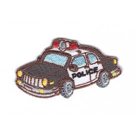 écusson voiture de police 5cm x 3cm thermocollant
