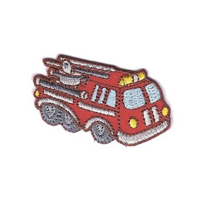 écusson voiture de pompier 4,7cm x 2,7cm thermocollant